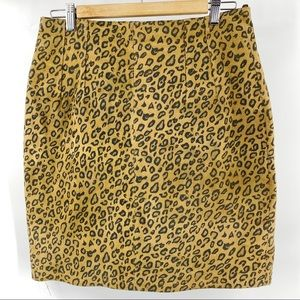 The limited leopard print suede pencil skirt